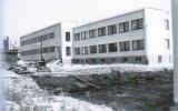 Budova filtrace a chemie - dokončovací práce v roce 1975
