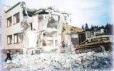 Demolice budovy chemie v roce 2000